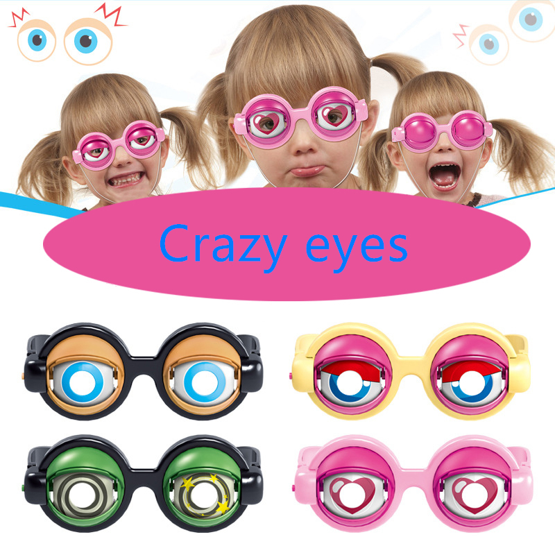 Crazy Eyes Toy Supplies Kids Party Favor Funny Pranks Glasses For Christmas Birthday Gift Plastic Novelty Glasses Toys Kids Toys