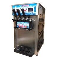 Edelstahl silber tisch top mini softeis  der automaten 3 Aromen Eis Maker mit kostenloser versand|Eismaschinen|Haushaltsgeräte -