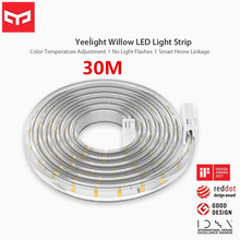 Yeelight 30M חכם LED אור רצועת צבע טמפרטורת התאמת APP Bluetooth שלט רחוק שליטה קולית אינטליגנטי