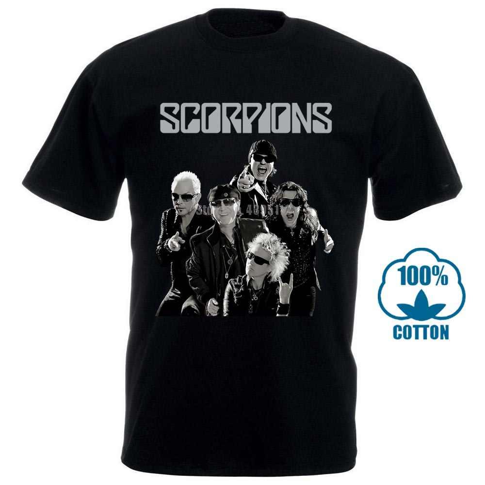 Модные футболки, облегающая футболка с круглым вырезом, лента со скорпионами, черная футболка, тяжелый металл, жесткий рок, Msg Kingdom, принимаем 010186
