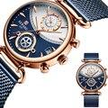 1 пара  мужские  женские  парные часы  кварцевые наручные часы из нержавеющей стали  Миланский ремешок  для влюбленных  мужские деловые часы  ...