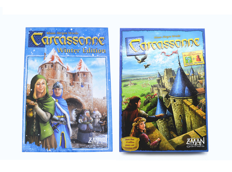 Carcassonne Winter Carcassonne Classic Strategy Board Game Kaka City Board Game