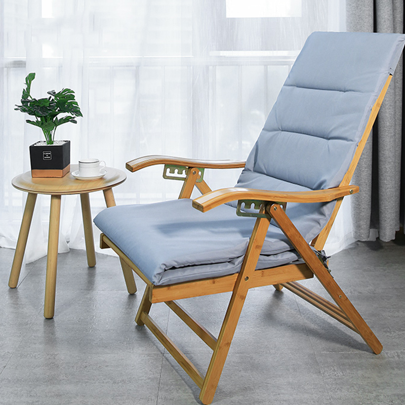 Bamboo Recliner Balcony Home Leisure Folding Lunch Break Adult Elderly Leisure Chair Lazy Backrest Summer Cool Chair