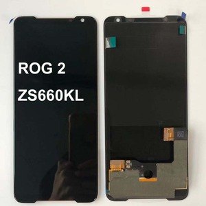 """Image 4 - Originele Nieuwe Voor 6.59 """"Asus Rog Telefoon 2 Phone2 Phoneⅱ ZS660KL Amoled Lcd scherm + Touch Panel Digitizer montage Reparaties"""