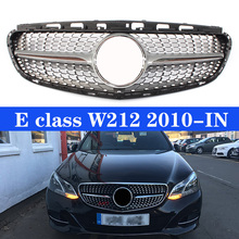 Front Grille Diamond Racing Grills For M-Benz E-Class W212 2010+ Without Camera
