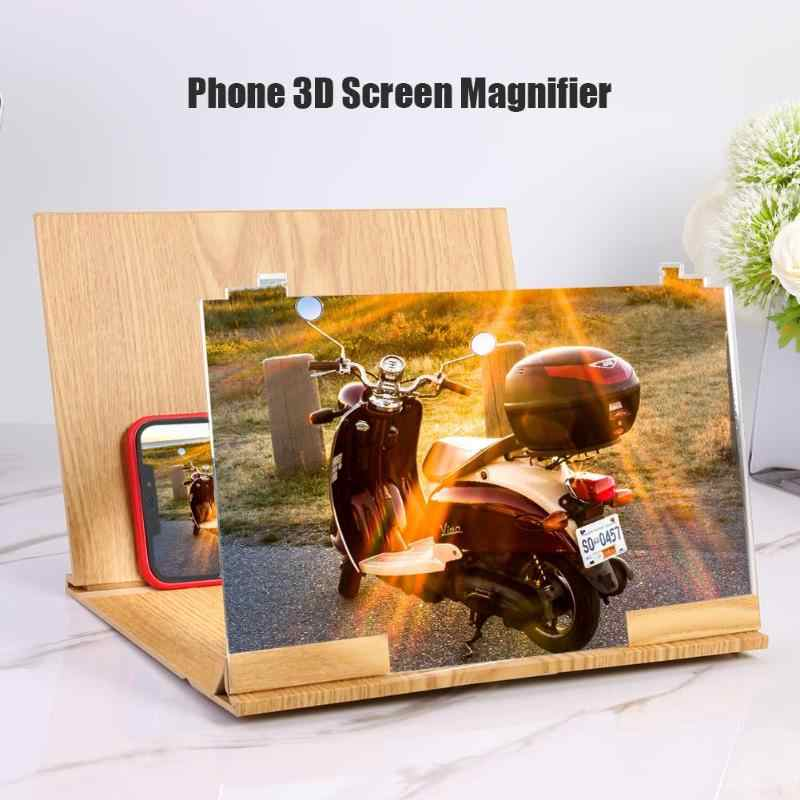 12 inch Wood Folding Bracket Excellent Plexiglass and Fiberboard 3D HD Video Amplifier Mobile Phone Screen Magnifier