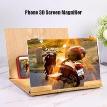 12 inch Wood Folding Bracket Excellent Plexiglass and Fiberboard 3D HD Video Amplifier Mobile Phone Screen Magnifier