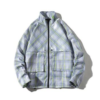 2019 Autumn Vintage Bomber Jacket Hip Hop Loose Coat Jaqueta Masculina Leisure Time Joker Jacket Male Bomber Print Jacket Men