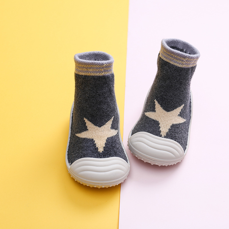 Autumn And Winter New Towel Thickening Children's Floor Socks Baby Baby Toddler Shoes Rubber Sole Cartoon Tube Socks WJH394