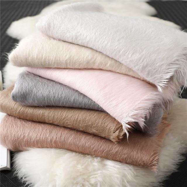 Лидер продаж 2020, новый зимний теплый толстый шарф хиджаб из чистого кашемира, Женская шаль, бандана, женские шарфы, Пашмина