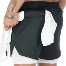 Workout Shorts Fitness GYM Jogging Camo Double-Deck 2-In-1 Men