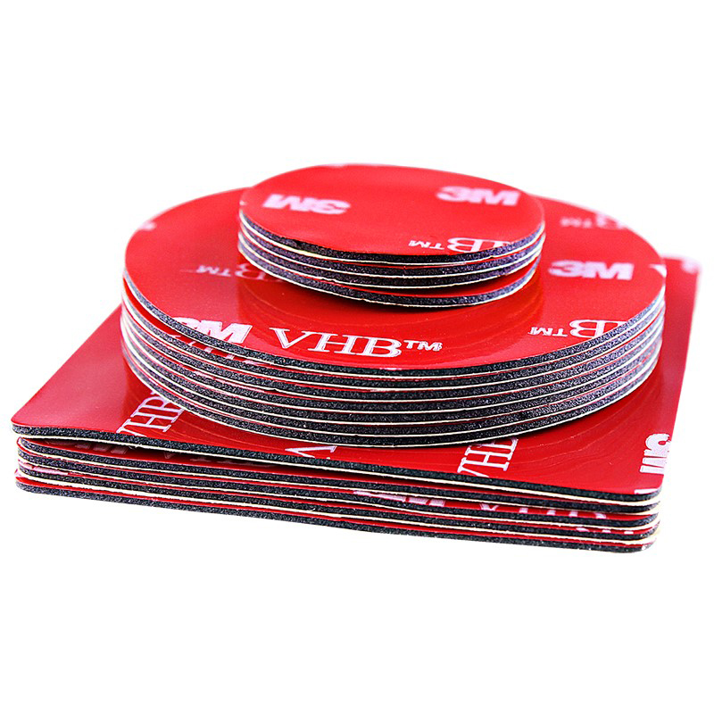 10pcs/lot Acrylic Foam Transparent Double Sided Adhesive Tape VHB  3M Strong Adhesive Patch Waterproof No Trace High Temperature