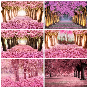 Yeele  Blooming Tree Flower Castle Wedding Photocall Photography Backgrounds Customized Photographic Backdrops For Photo Studio