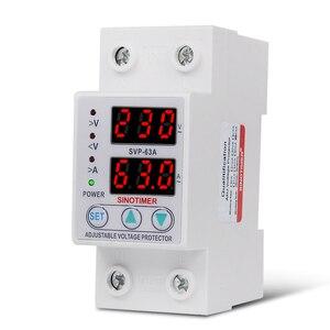 Image 4 - Protecteur de relais des surtensions 63a, 220V 230V, dispositif de Protection des surtensions, courant réglable
