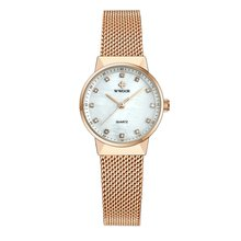 Fashion Women Fashion Waterproof Quartz Rhinestone Watch Mes