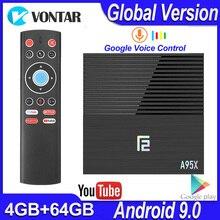 A95X F2スマートテレビボックスアンドロイド9.0 4ギガバイトのram 32グラム/64 8gアンドロイドテレビボックスamlogic S905X3デュアル無線lan BT4.2メディアプレーヤーyoutube 4 18kスマートボックス
