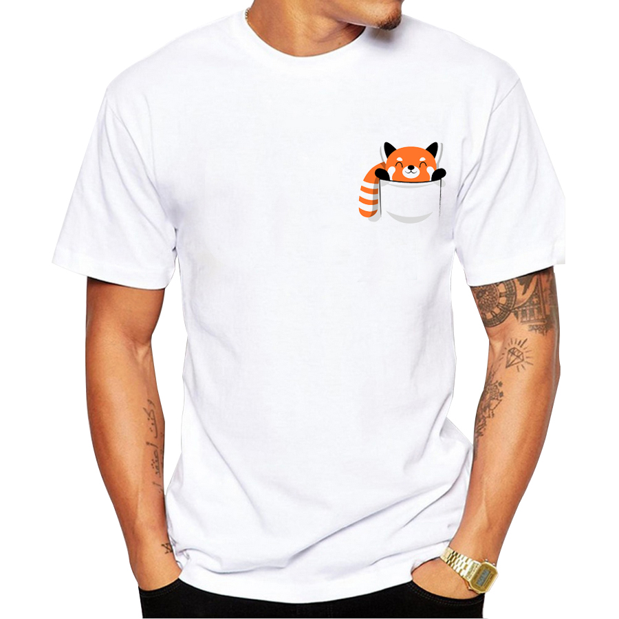 2020 Novelty Fashion Funny Men T-shirt Printing Red Panda Design T-shirt Good Quality Casual Tops Harajuku Male Tee Shirt