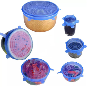 Image 4 - 12pcs Kitchen Universal Accessories Silicone Reusable Food Wrap Bowl Pot Cover Silicone Stretch Lids Cooking Cookware Tools