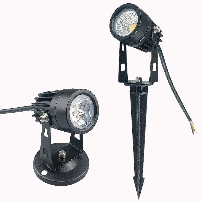 220V 110V Outdoor LED Garden Lawn Light 3W 5W Landscape Lamp Spike Waterproof 12V Path Bulb Warm White Green COB Spot Lights
