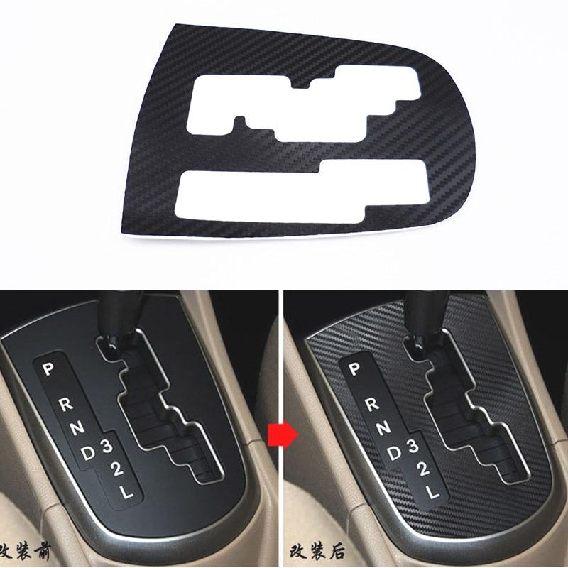 ZYBAISHUN Carbon Fiber Membrane Car Dental Panel Decoration Ring Cover For Hyundai Solaris Verna, Car Accessories