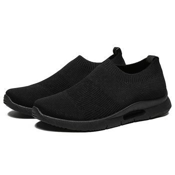Nowe męskie buty wulkanizowane siatkowe buty na co dzień stopy męskie buty lekkie buty sportowe męskie zapatillas mujer Casual tanie i dobre opinie Maycaur Mesh (air mesh) CN (pochodzenie) Fabric Płytkie Stałe Dla dorosłych Wiosna jesień Slip-on Niska (1 cm-3 cm)