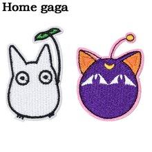 Homegag/Милая футболка с аппликацией в стиле аниме и нашивками