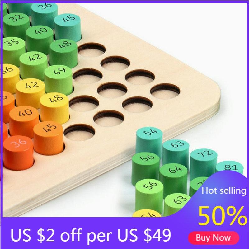 Детский обучающий стол 9*9 для математического умножения доска с подсчетом детские деревянные блоки цифры Обучающие деревянные игрушки под...