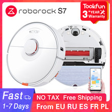 New 2021 Roborock S7 Robot Vacuum Cleaner For Home Sweeping Washing Mopping 2500PA Cyclone Suction Dust XIAOMI APP Smart Planned