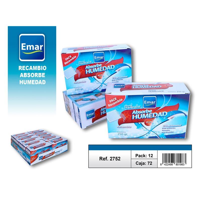 BOX 72 Units 2752-Refill Absorb Humidity 250 Gr. Bulk