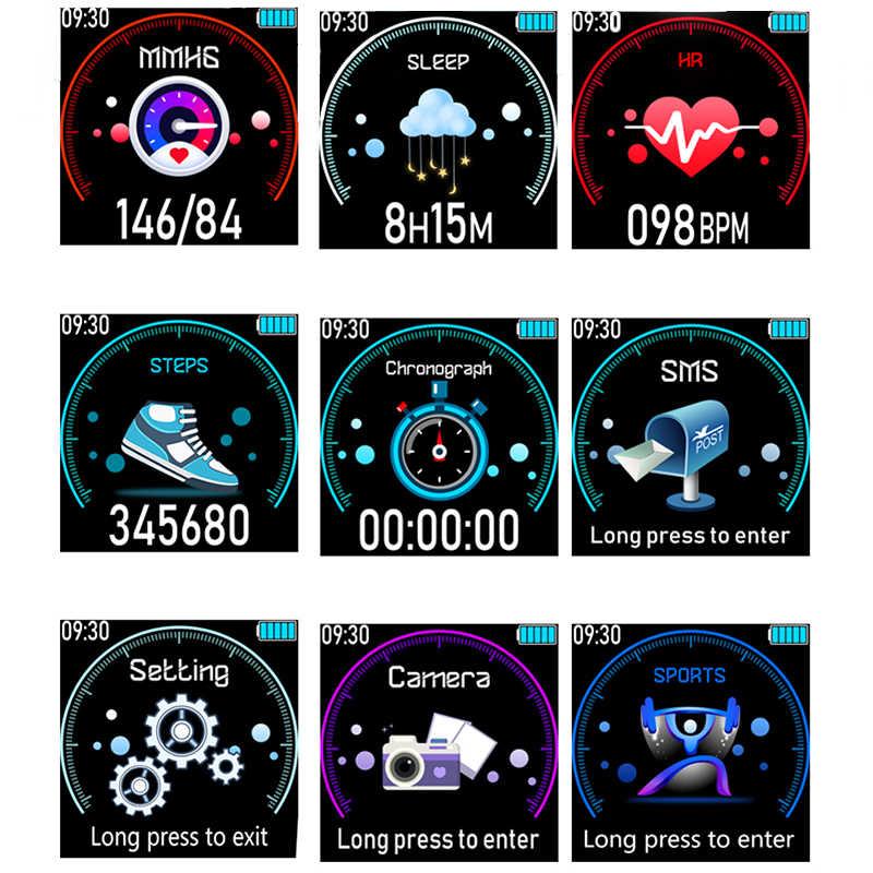 LIGE 2019 جديد ساعة ذكية ضغط الدم الأكسجين سوار لياقة بدنية ساعة مراقب معدل ضربات القلب IP67 الرجال النساء الرياضة Smartwatch + صندوق