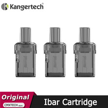 3pcs/lot Original Kanger Ibar Pod Cartridge 2ML with KAL 1.2ohm Coil Vaporizer for E Cigarette  Kangertech Ibar Pod Vape Kit
