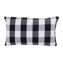 new plaid striped pattern home sofa cushion covers 30*50cm without inner cotton polyester rectangle pillow covers X73 ocean style oblique striped anchor pattern square shape flax pillowcase without pillow inner