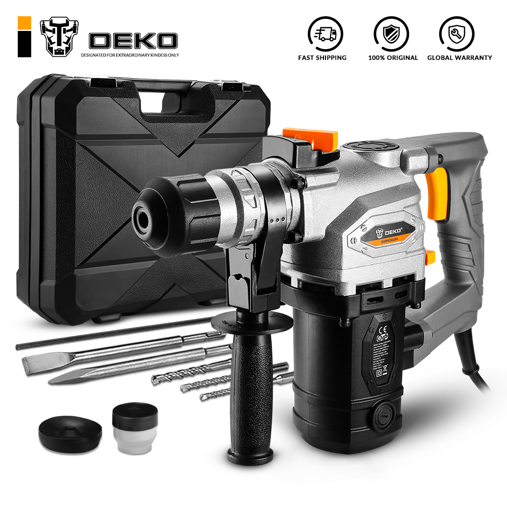 DEKO DKRH26LD4 230V Multifunctional Rotary Hammer with BMC and 6pcs Accessories Electric Demolition Hammer Impact Drill Punch Po