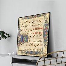 Laeacco художественный Ретро плакат с листовой музыкой старинное