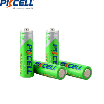 цена на 2/4PC PKCELL 1.2V AA Rechargeable Battery 2A NIMH AA Rechargeable Battery  aa ni-mh batteries battery 600mah for clock toys