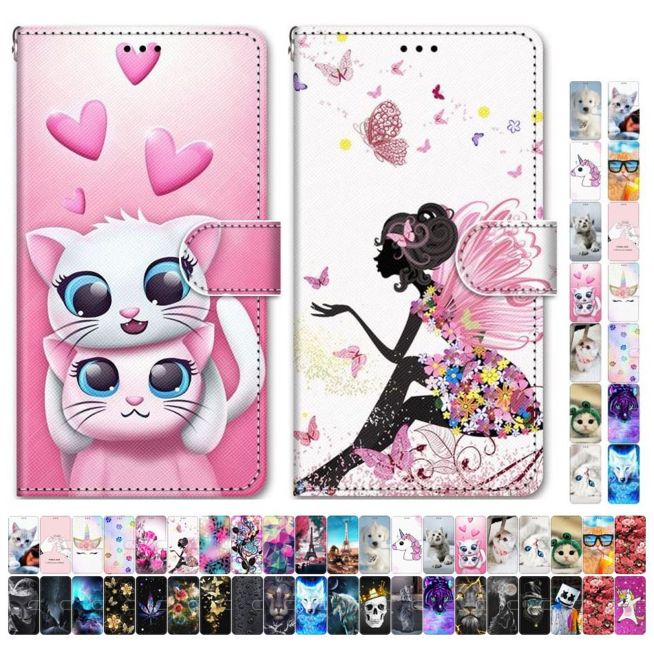 Boys Girls Kids Lovely Phone Bags For Case Samsung Galaxy A50 A500 A510 A520 A5 2015 2016 2017 Tower Dog Cat Kitten Tiger D08F image