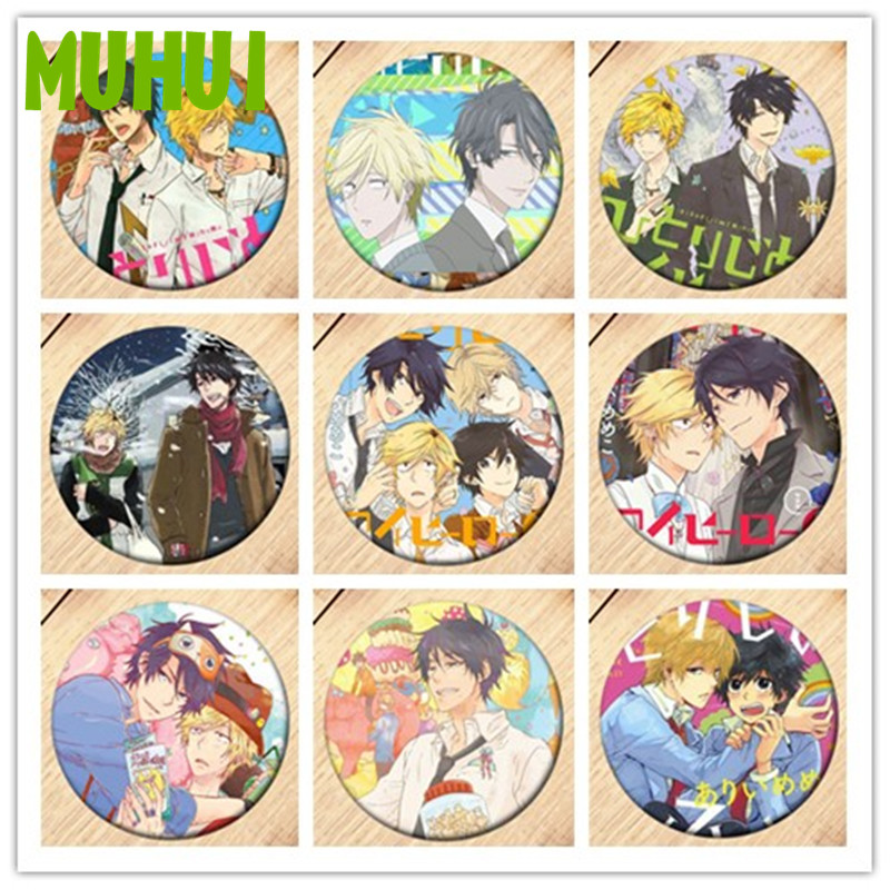 Free Shipping Anime Hitorijime My Hero Brooch Pin Badges For Clothes Backpack Decoration Children's Gift B015