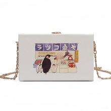 New summer street small fashion shoulder bag female 2019 new pattern cartoon box handbag square girl Messenger