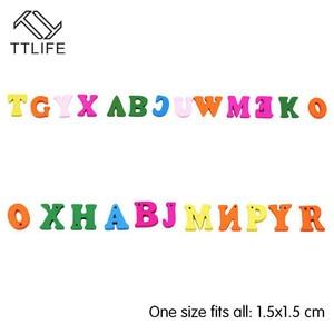 Image 5 - Rompecabezas educativo de madera para niños, juguete de alfabeto, letras de Scrabble, coloridas letras decorativas, números, manualidades, bricolaje, 100 Uds.