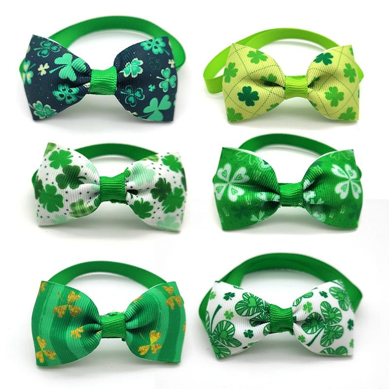 50 100 X Wholesale font b Pet b font Dog Bow Tie Necktie St Patrick s