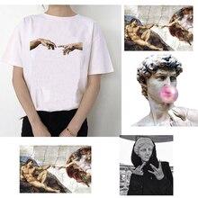 Микеланжело Давид руки Печать Женская футболка женская одежда Эстетическая harajuku ulzzang graphic 90s летний топ