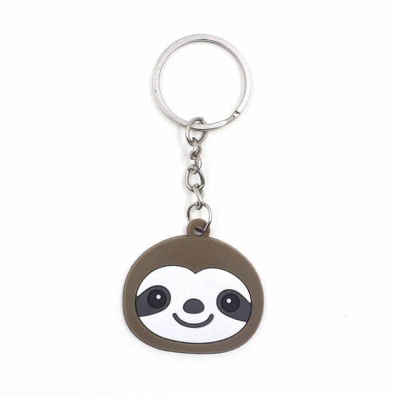 Cute Cartoon Animale Sloth Portachiavi Delle Donne Zaino Sacchetto di Bagschool Portachiavi Decorazione del Regalo Dei Bambini Divertente Auto Portachiavi Gioielli