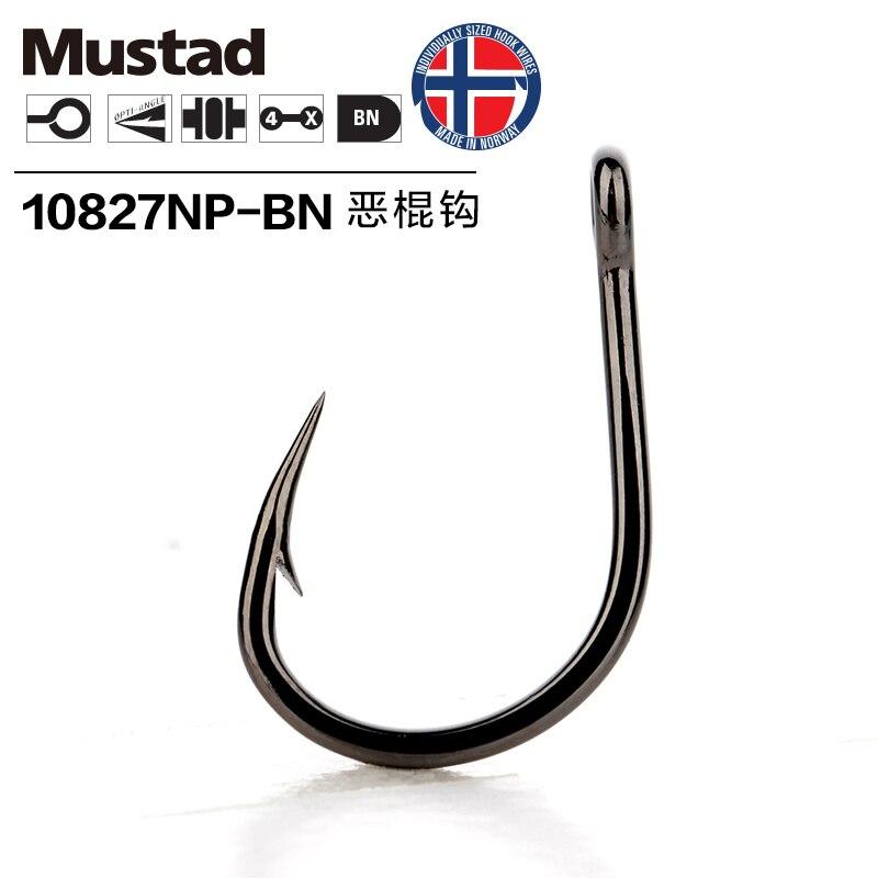 Mustad Hooks Deep Ocean Fishing 10827np# 4X Strong Hook Live Bait Barbed Iron Board Fishing Hooks Jig Hook Jig Bait Pesca Anzol