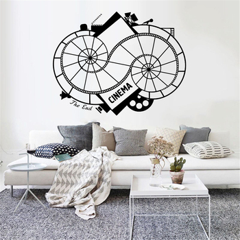 Cinema Wall Decals Movie Film Filmstrip Cinematography Vinyl Waterproof Wall Stickers Living Room Bedroom Decor Accessories Z486 image