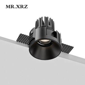 MR.XRZ 8W 10W Geek çerçevesiz COB LED spot 220V 240V yuvarlak gömme tavan spot lambaları yatak odası için iç mekan aydınlatması