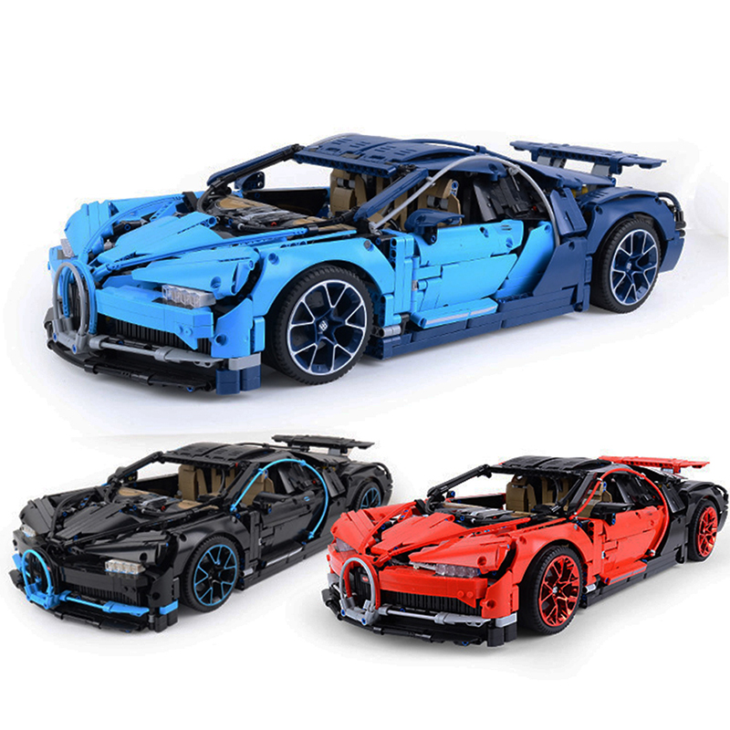 DHL 3388 3368 DECOOL TECHNIC compatible <font><b>Legos</b></font> <font><b>42083</b></font> 42056 RACE Car Bugatti chiron RSR Building Blocks Toy for childrens GIFT image