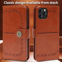 3D Sunflower Hardware Flip Wallet PU Leather Case For iPhone 11Pro Max XR XS Max X 8 7 6 6SPlus Luxury card slots Embossed cover