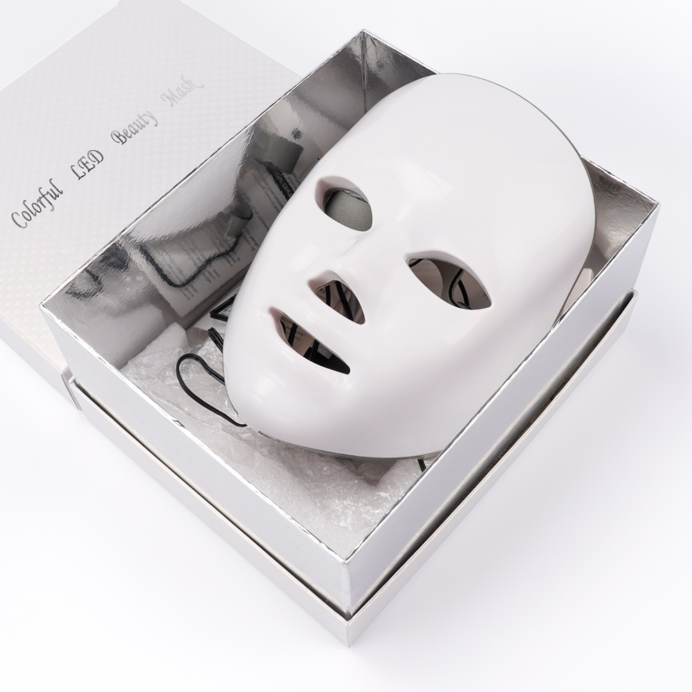 NOBOX-Minimalism Design 7 Colors LED Facial Mask Photon Therapy Anti-Acne Wrinkle Removal Skin Rejuvenation Face Skin Care Tools