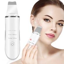 ultrasonic skin scrubber ultrasonic cleaning peeling Professional Electric Ultrasonic Facial Skin Scrubber Ion Deep Face Cleaning Peeling Rechargeable Skin Care Beauty Instrument
