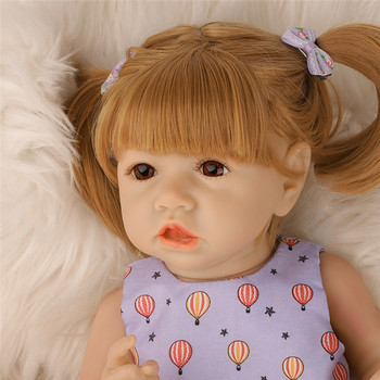 22'' Full Body Silicone Doll Pouting Baby Doll High Quality Lifelike Realistic Doll Babe Reborn Princess Doll Birthday Gift aifei doll